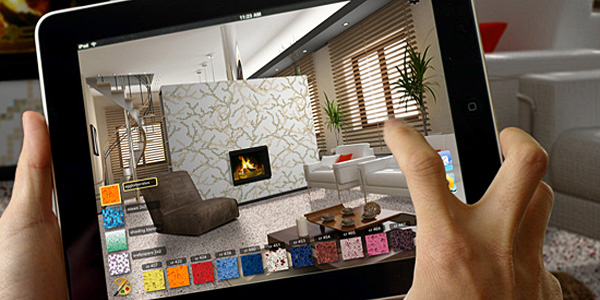 Itrend ipad app for interior design Bedroom design app