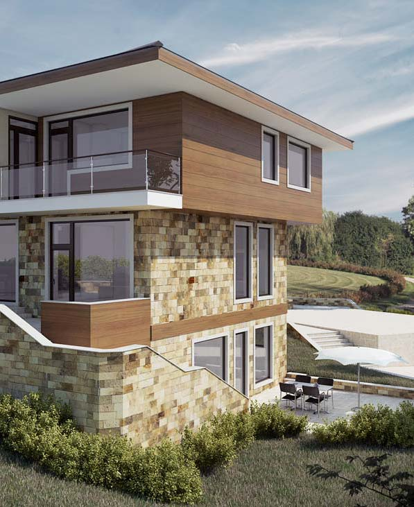Exterior visualization of family house #2