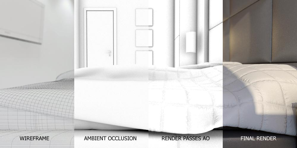 Ambient Occlusion + Displacement and Bump maps