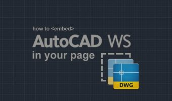 How to embed a drawing in a web page with AutoCAD WS