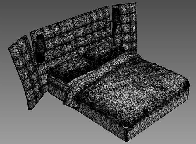 Свалете безплатни 3D модели на легла от Flou
