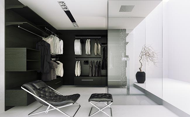 3Д модел на гардероб от Poliform