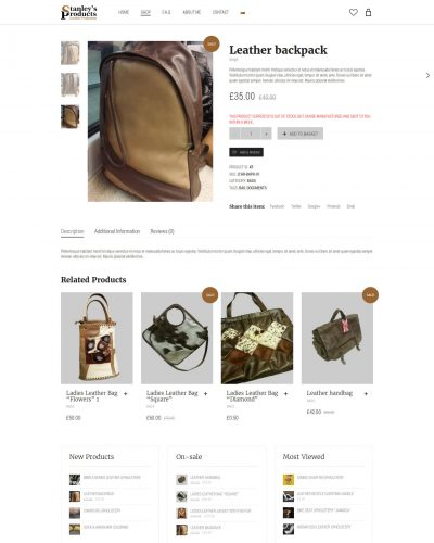 Продуктите на Стенли - интернет магазин за кожени изделия