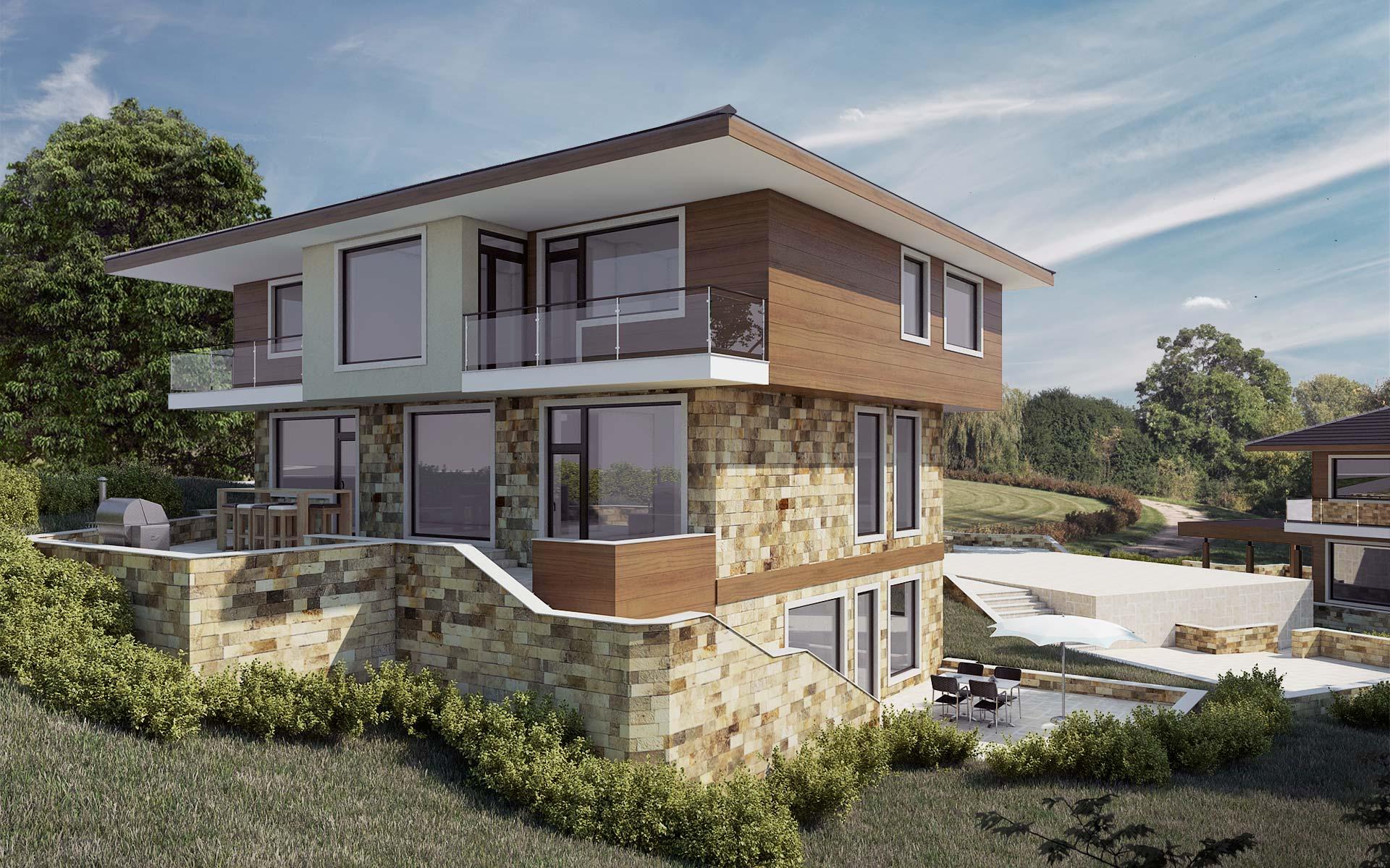 Екстериорна визуализация на фамилна къща №2